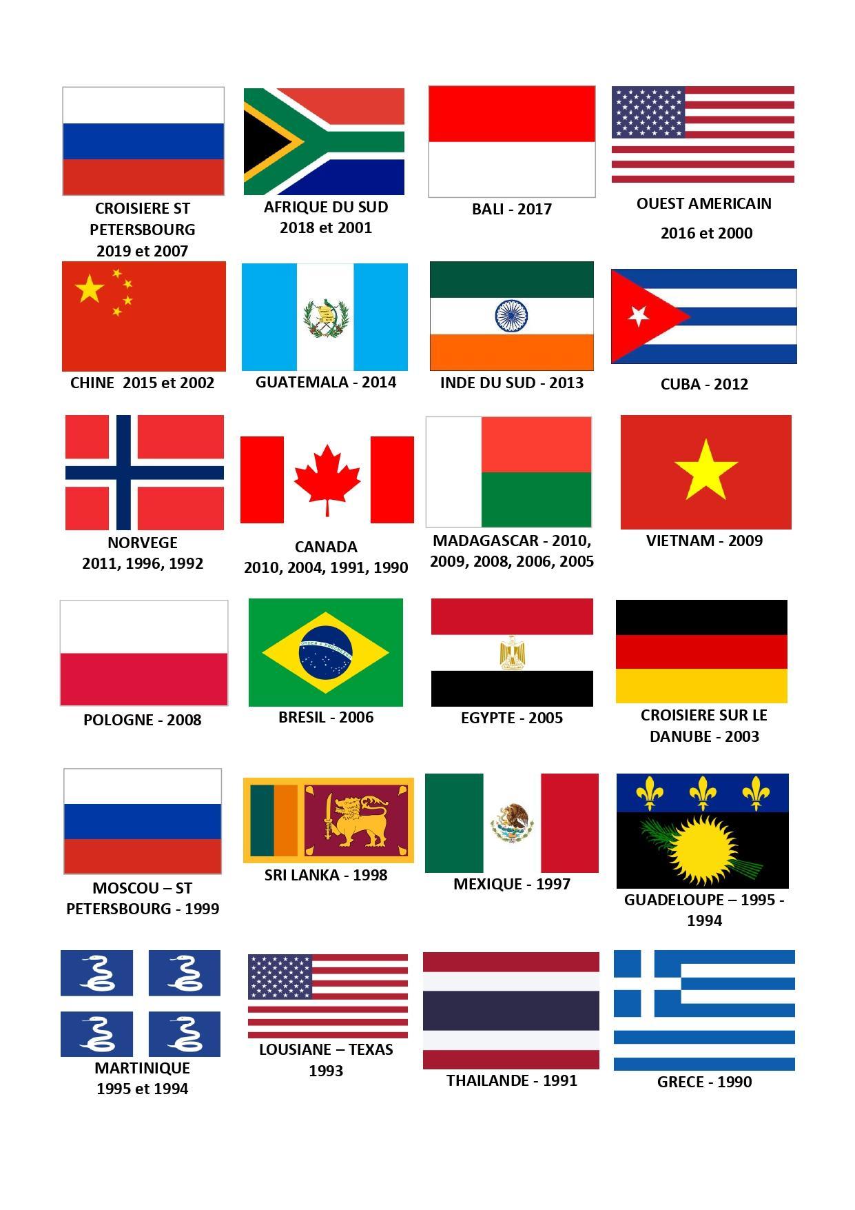 Liste voyages gm